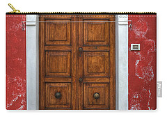 an old wooden door in Italy Carry-all Pouch