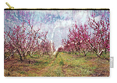 An Orchard In Blossom In The Golan Heights Carry-all Pouch