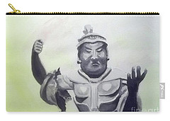 Carry-all Pouch featuring the painting An Oriental Statue At Toledo Art Museum - Ohio by Yoshiko Mishina