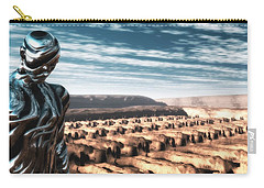 Carry-all Pouch featuring the digital art An Untitled Future by John Alexander