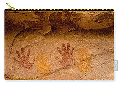 Anasazi Painted Handprints - Utah Carry-all Pouch
