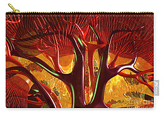 Carry-all Pouch featuring the digital art Anatomy Abstract #1 Kidney by Russell Kightley