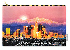 Carry-all Pouch featuring the digital art Anchorage - Bright-named by Elaine Ossipov