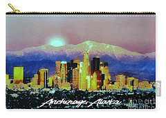 Carry-all Pouch featuring the digital art Anchorage-subdued by Elaine Ossipov