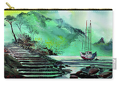 Carry-all Pouch featuring the painting Anchored by Anil Nene