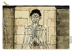 Ancient Art Mural Depicting The Sen Lines Carry-all Pouch