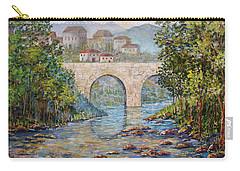 Ancient Bridge Carry-all Pouch by Lou Ann Bagnall