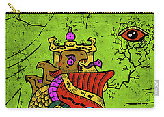 Carry-all Pouch featuring the digital art Ancient Egypt Pharaoh by Sotuland Art
