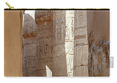 Carry-all Pouch featuring the photograph Ancient Egypt by Silvia Bruno