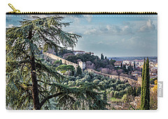 Carry-all Pouch featuring the photograph Ancient Walls Of Florence by Sonny Marcyan