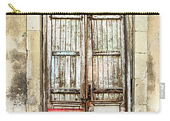 Ancient Wooden Door In Old Town. Limassol. Cyprus Carry-all Pouch