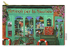 Ancora Una Bicicletta Rossa Carry-all Pouch by Guido Borelli
