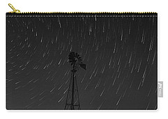 And The Stars Rained Down Black And White Carry-all Pouch