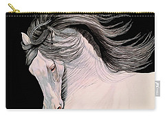 Andalusian In Color Pencil Carry-all Pouch by Cheryl Poland