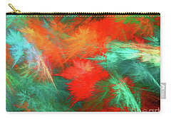 Carry-all Pouch featuring the digital art Andee Design Abstract 100 2017 by Andee Design