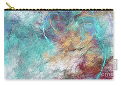 Carry-all Pouch featuring the digital art Andee Design Abstract 4 2015 by Andee Design