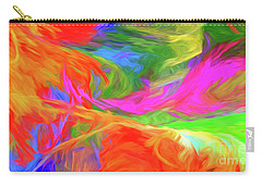 Carry-all Pouch featuring the digital art Andee Design Abstract 5 2015 by Andee Design
