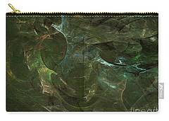 Carry-all Pouch featuring the digital art Andee Design Abstract 75 2017 by Andee Design