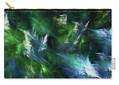 Carry-all Pouch featuring the digital art Andee Design Abstract 84 2017 by Andee Design