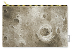 Carry-all Pouch featuring the digital art Andee Design Abstract 86 2017 B W by Andee Design