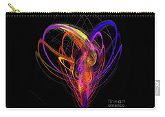 Carry-all Pouch featuring the digital art Andee Design Abstract 91 2017 by Andee Design