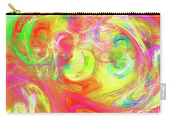 Carry-all Pouch featuring the digital art Andee Design Abstract 95 2017 by Andee Design