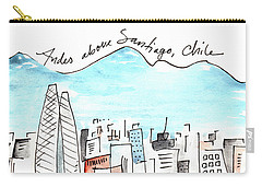 Andes Above Santiago Carry-all Pouch