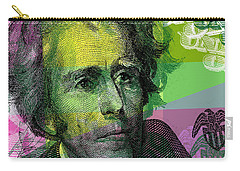 Carry-all Pouch featuring the digital art Andrew Jackson - $20 Bill by Jean luc Comperat