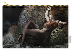Carry-all Pouch featuring the digital art Andromeda by Shanina Conway