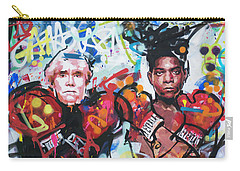 Andy Warhol And Jean-michel Basquiat Carry-all Pouch