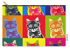 Andy Warhol Cat Carry-all Pouch