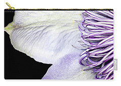Carry-all Pouch featuring the photograph Anemone Center Edge by Rebecca Cozart