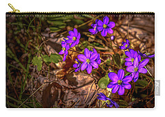 Carry-all Pouch featuring the photograph Anemone Hepatiea #g3 by Leif Sohlman