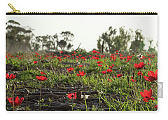 Carry-all Pouch featuring the photograph Anemones Forest Panorama by Yoel Koskas