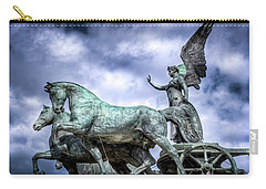 Angel And Chariot With Horses Carry-all Pouch by Sonny Marcyan