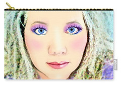 Angel Eyes Carry-all Pouch by Barbara Tristan