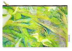 Carry-all Pouch featuring the painting Angel Forest by Kym Nicolas