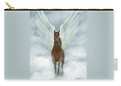 Angel Horse Running Free Across The Heavens Carry-all Pouch