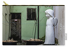 Angel In Courtyard Carry-all Pouch