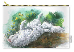 Carry-all Pouch featuring the painting Angel In The Morning by Sherry Shipley