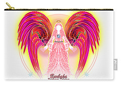 Angel Intentions Divine Timing Carry-all Pouch by Barbara Tristan