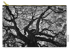 Angel Oak Johns Island Black And White Carry-all Pouch