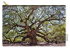 Angel Oak Tree 009 Carry-all Pouch by George Bostian