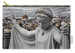 Carry-all Pouch featuring the photograph Angel Of Florence by Sonny Marcyan