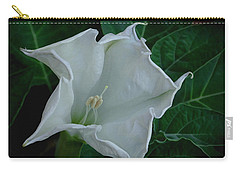 Angel Trumpet Opening Carry-all Pouch by James C Thomas