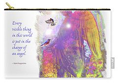 Carry-all Pouch featuring the photograph Angel Vision by Marie Hicks