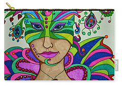 Angelique Carry-all Pouch by Alison Caltrider