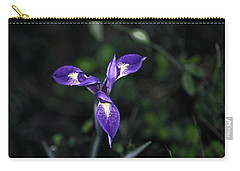 Carry-all Pouch featuring the photograph Angelpod Blue Flag by Sally Weigand