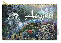 Carry-all Pouch featuring the digital art Angels by Evie Cook