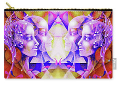 Carry-all Pouch featuring the painting Angels by Hartmut Jager